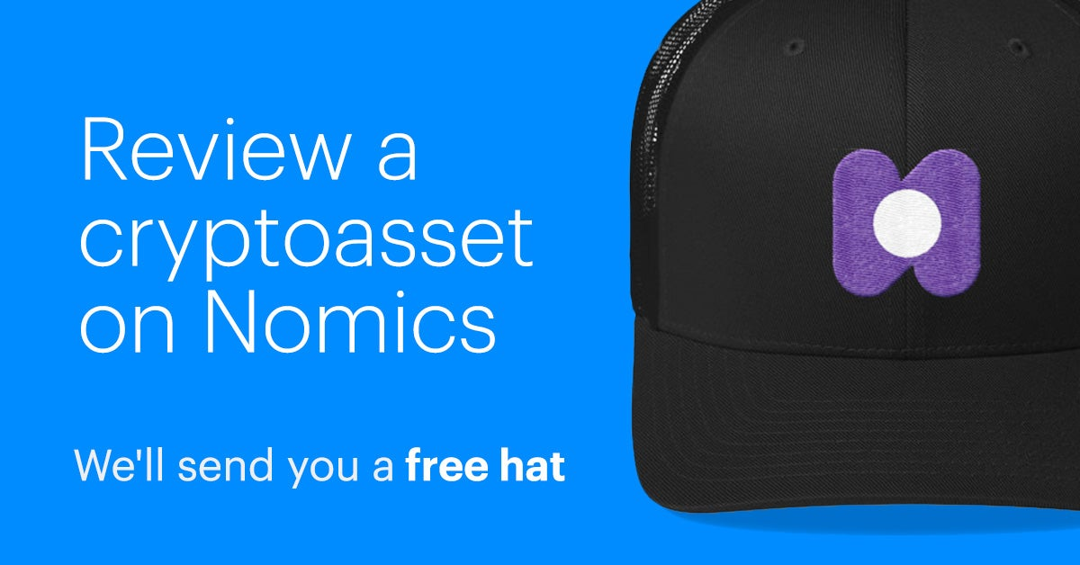 Review Your Favorite Cryptoasset, Get A Free Nomics Hat