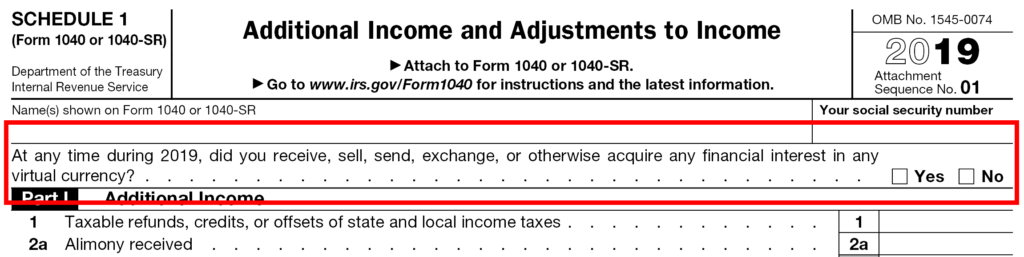 """""""virtual currency"""" on Form 1040"""
