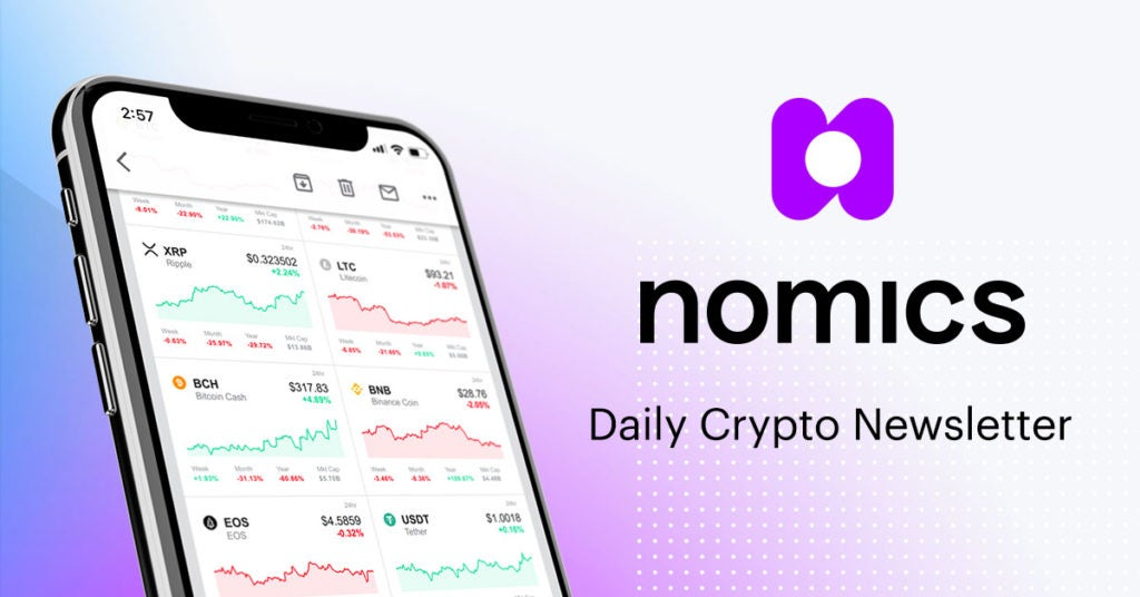 Nomics Launches Crypto's 1st Fully Customizable Daily Newsletter