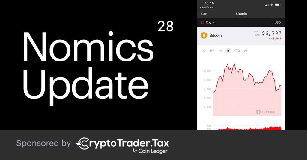 Nomics Update #28 – Mobile App Upgrade, New Crypto Exchanges, Flippening #74 & More