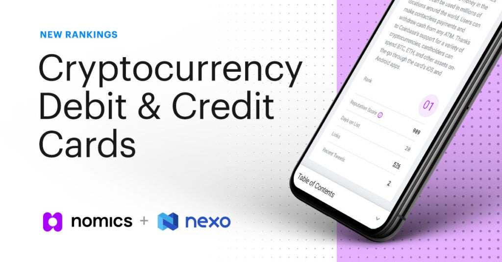 New Rankings for Cryptocurrency Debit & Credit Cards