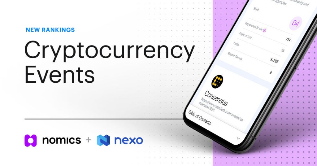 New Rankings for Cryptocurrency Events