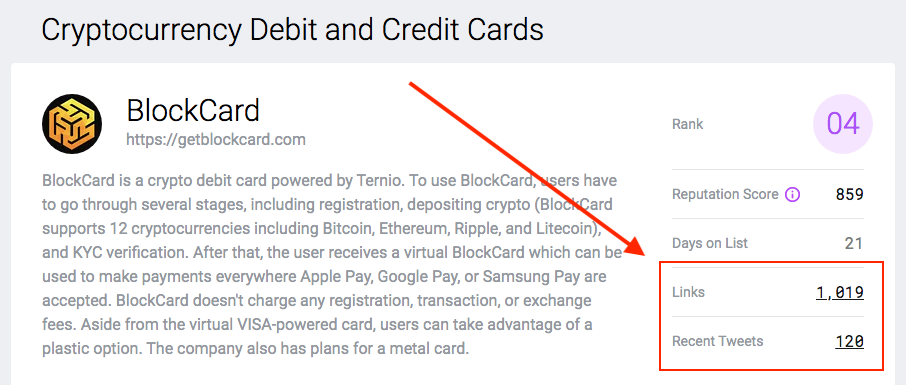 Links & tweets - crypto debit & credit cards