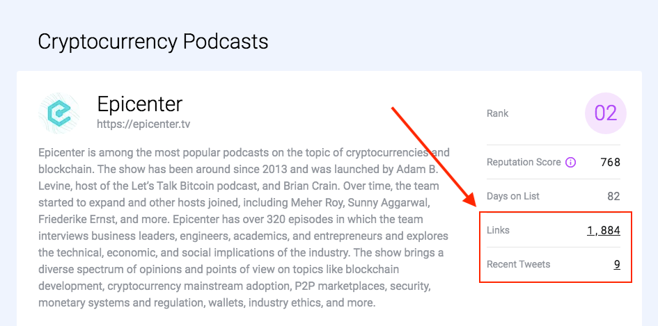 Links & tweets - crypto podcasts