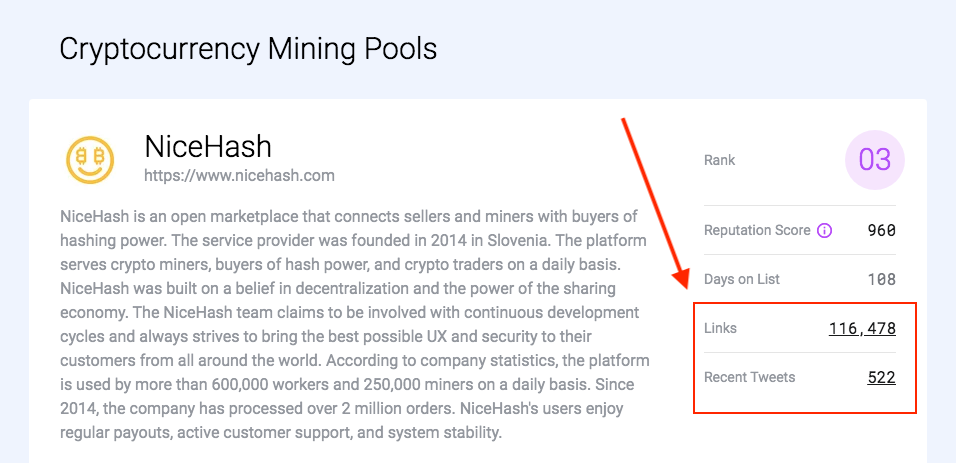 Links & tweets - crypto mining pools