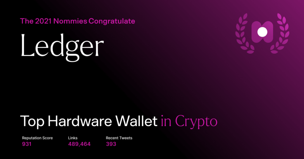 ledger - top hardware wallet in crypto