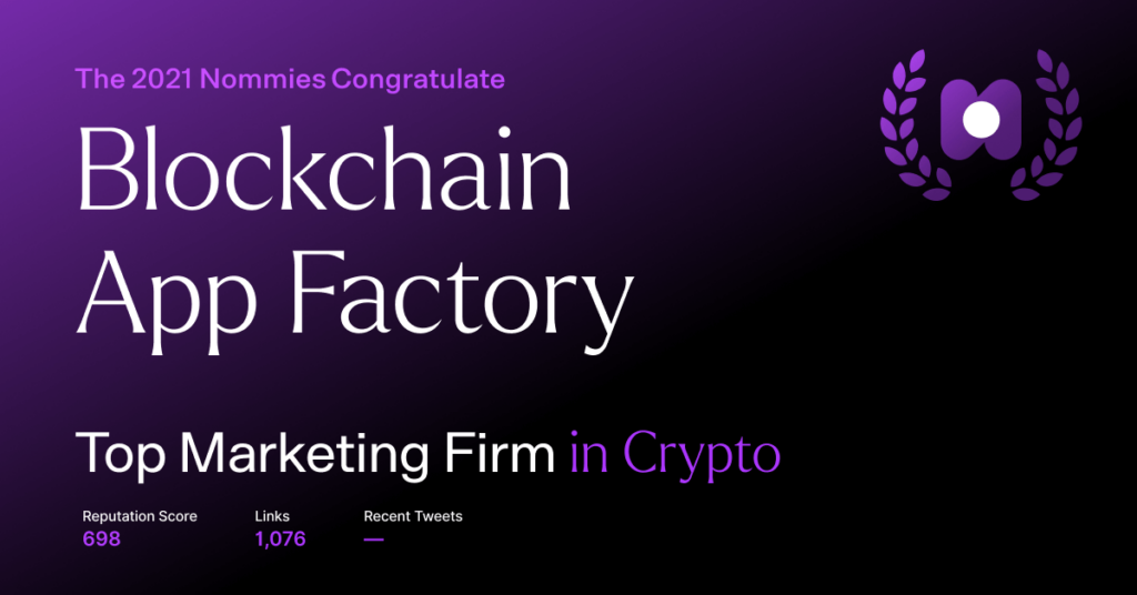 blockchain app factory - top marketing firm in crypto