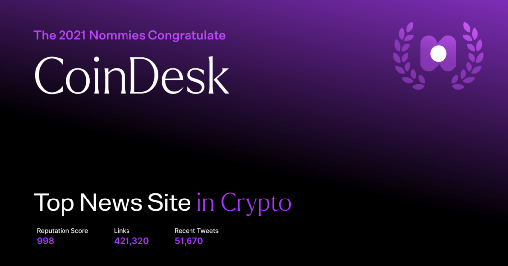 coindesk - top news site in crypto