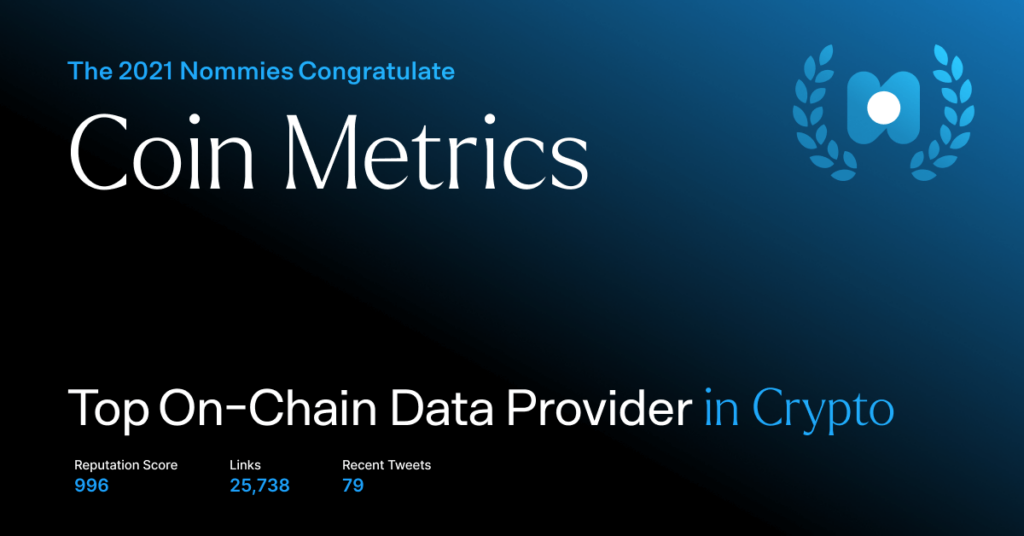 coin metrics - top on-chain data provider in crypto